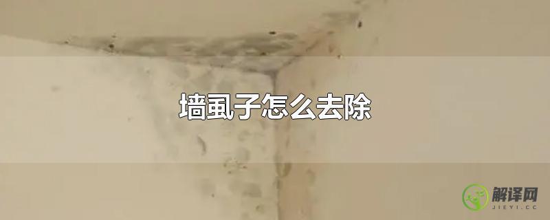 墙虱子怎么去除?
